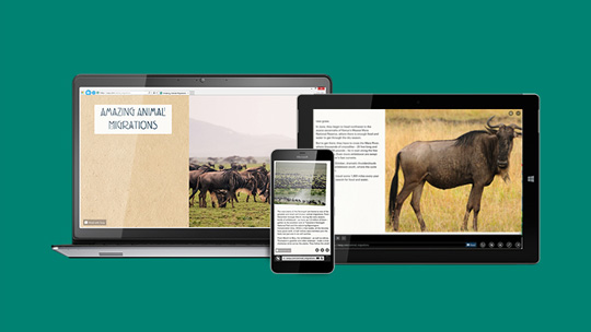 Easily bring your ideas to life on the web with Sway.