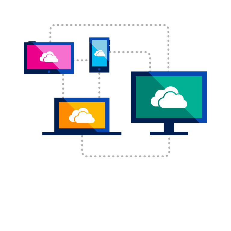 Sign up for OneDrive and get 15 GB of free online storage.