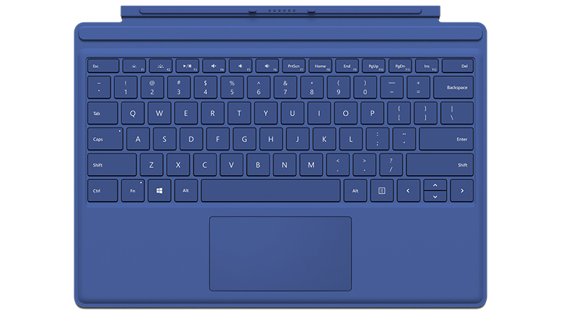 Blue Surface Pro 4 Type Cover Front view