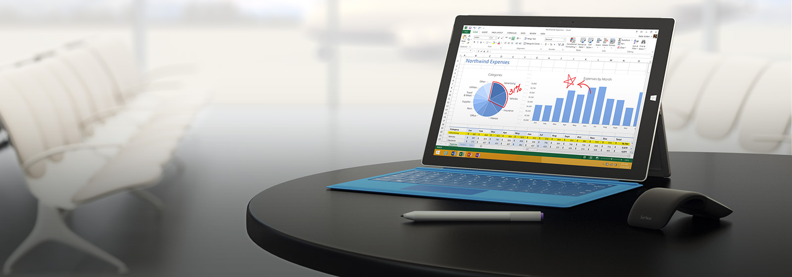 The tablet that can replace your laptop. Surface Pro 3.
