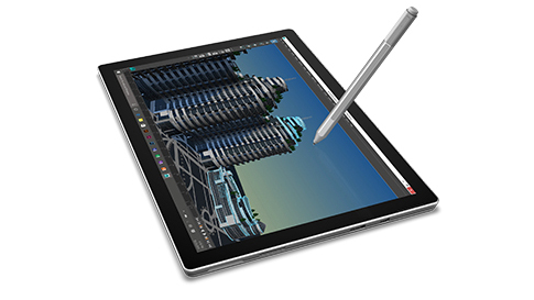 Surface Pro 4 in tablet mode.