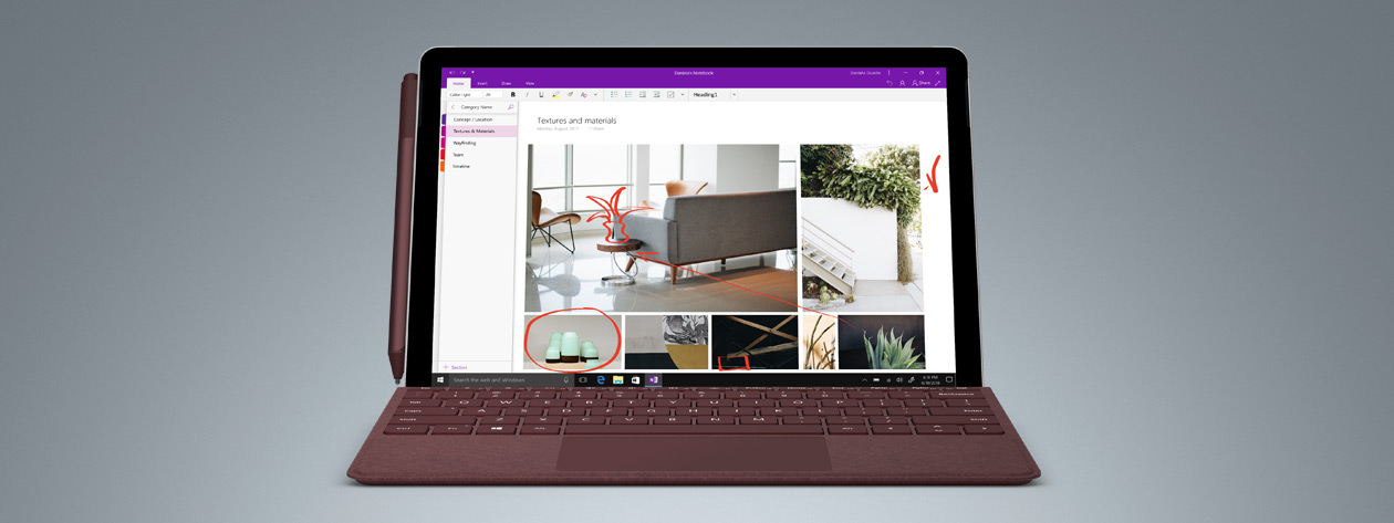 Surface Go with OneNote