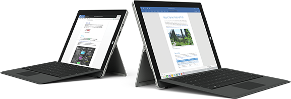 Two Surface devices, visit the Office 2007 retirement page