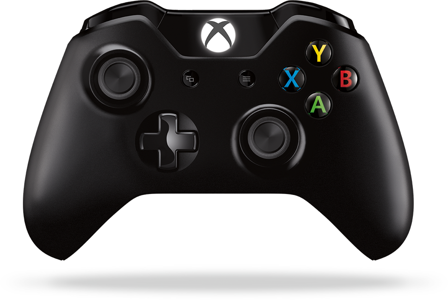 Xbox controller and all-in-one with Xbox on the screen