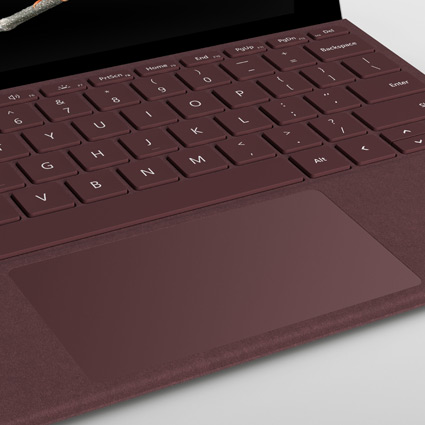 Burgundy Surface Go Signature Type Cover