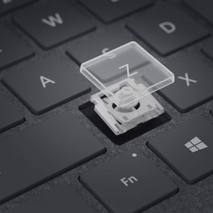 Z key removed from keyboard