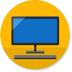 Desktop computer icon