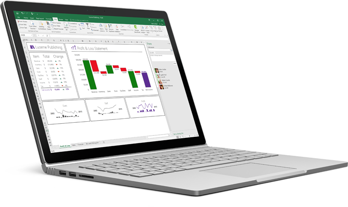 A laptop showing a rearranged Excel spreadsheet with data auto-completed.