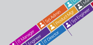 Graphic depicting various job titles, learn about Office 365 Enterprise E5