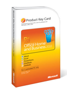 Office 2010 Product Key Card