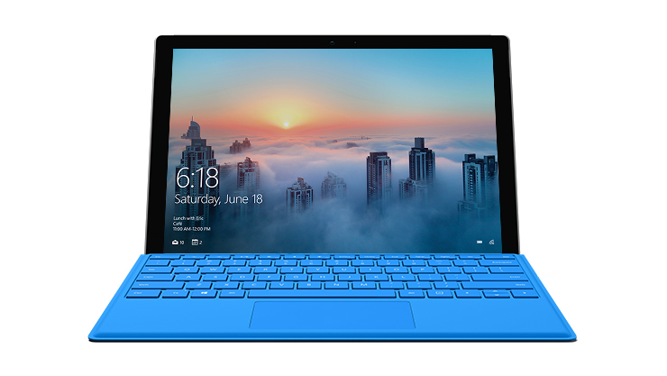 Image of a Surface Pro 4 Laptop.