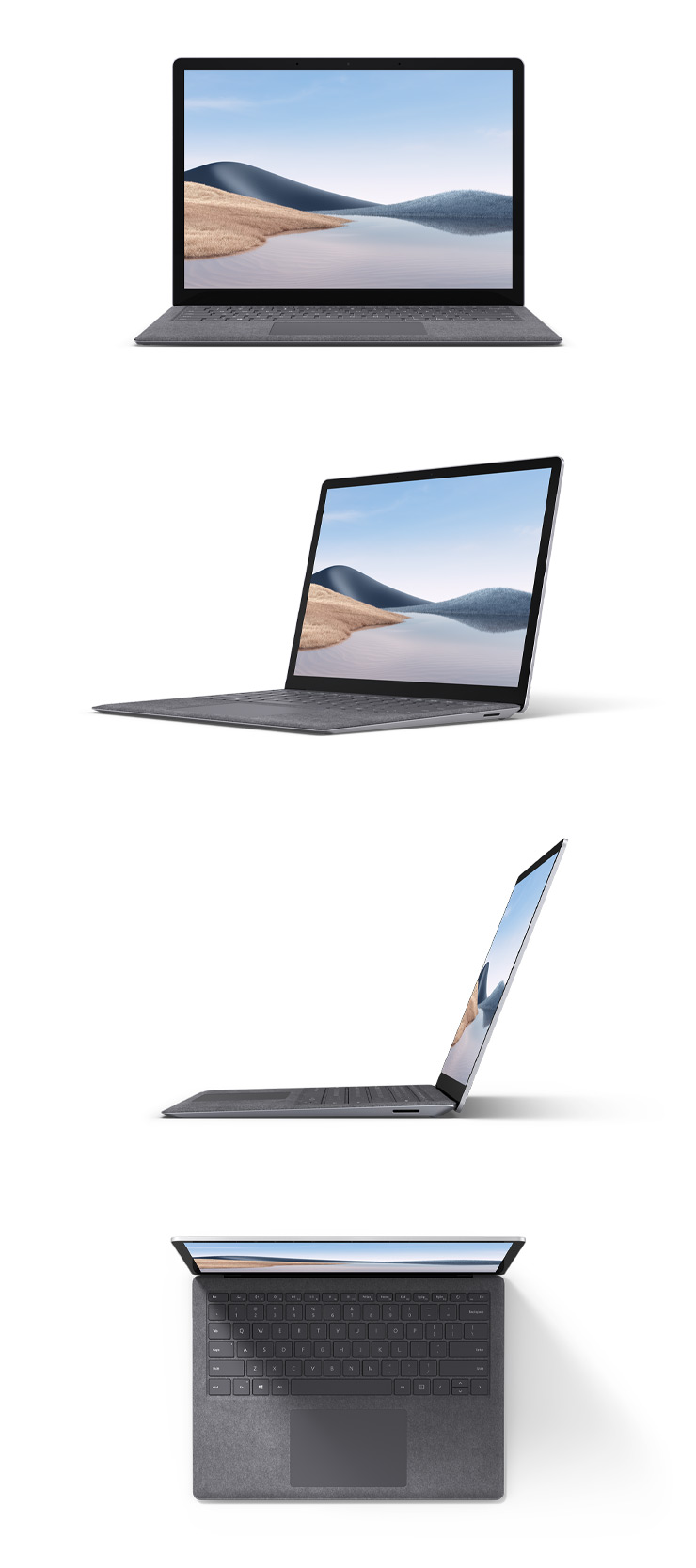 "360 rotation of the Surface Laptop 4 13.5"" (Platinum)"