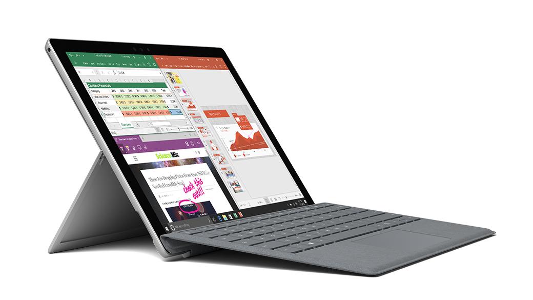 Image of user interface of Microsoft Office program