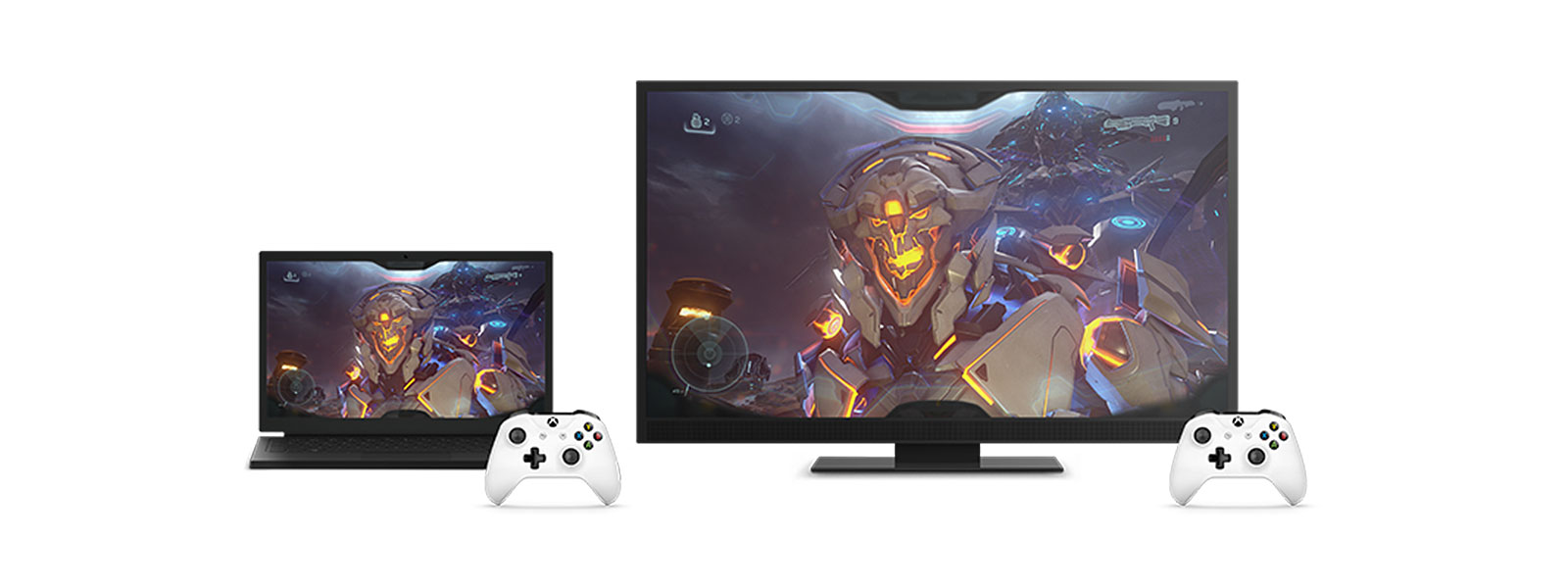 Desktop and laptop PCs with controllers