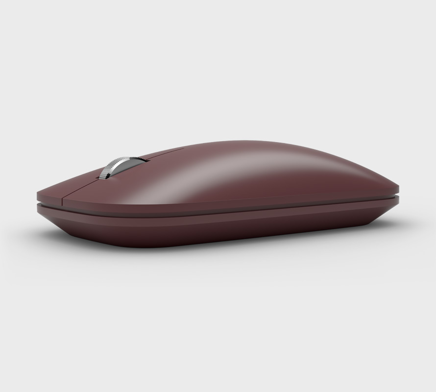 Burgundy Surface Mobile Mouse