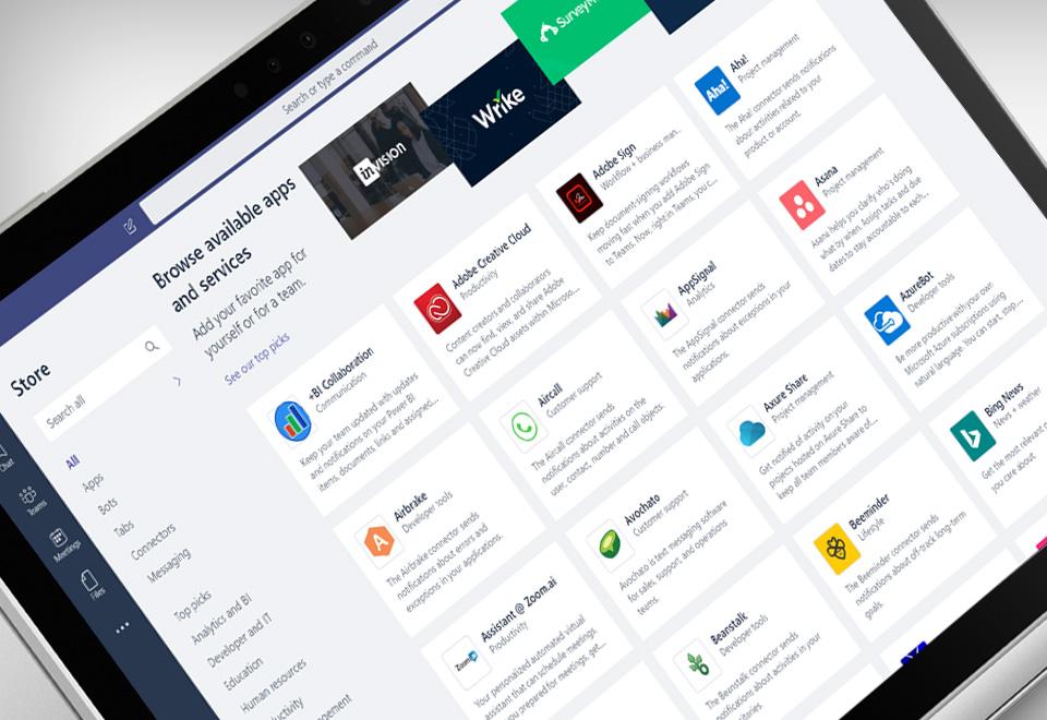 A laptop screen showing Microsoft Teams application