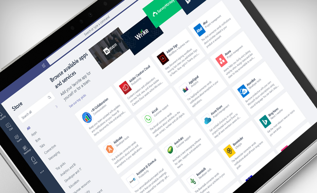 Teams Featured Apps For Business Microsoft Teams