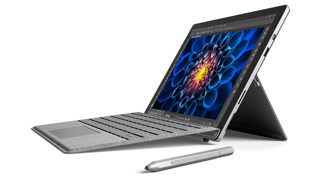 Surface Pro 4 sitting open with Surface Pen