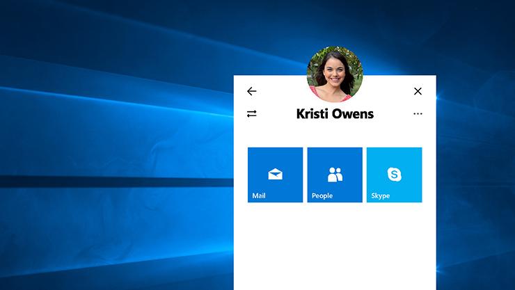 screenshot of Windows MyPeople user interface
