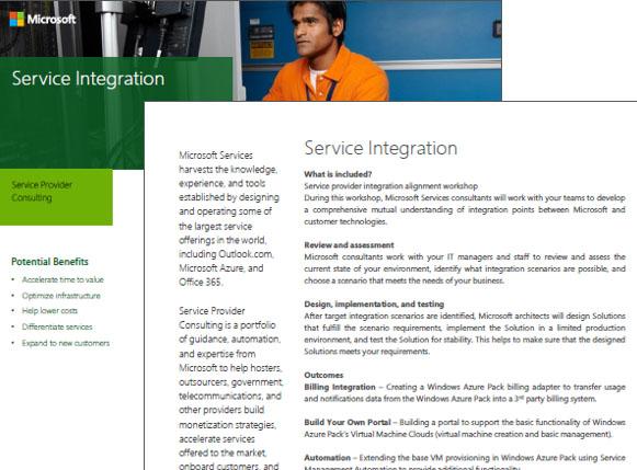 Service Integration Datasheet