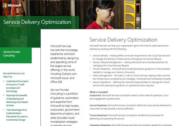 Service Optimization Datasheet