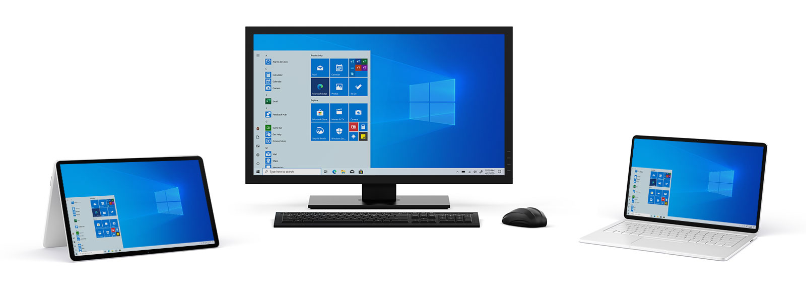 A collection of windows 10 devices
