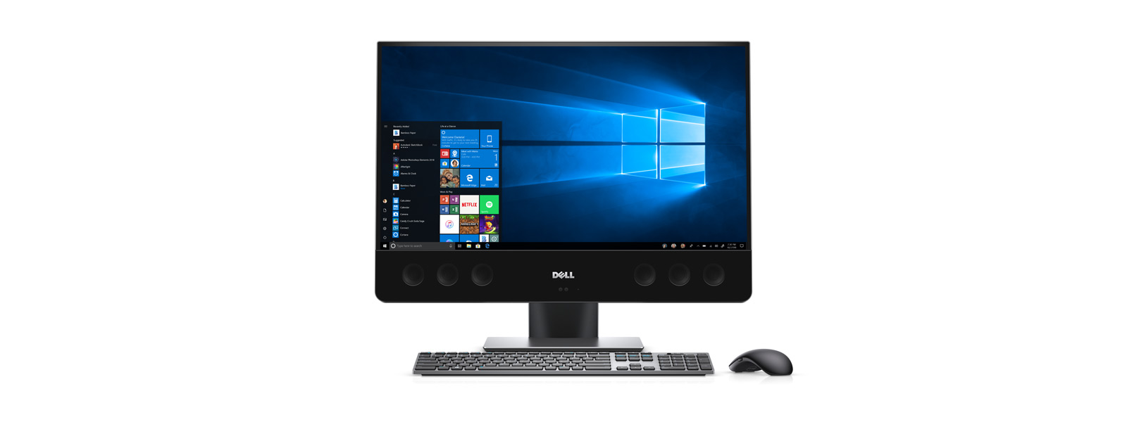 A front angled shot of Dell XPS 27 All-in-One.