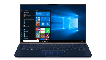 A Windows 10 laptop