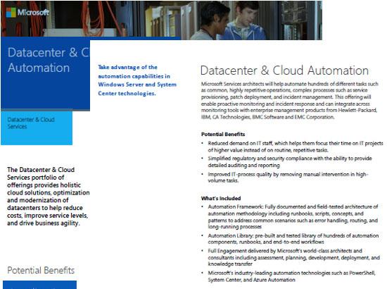 Datacenter and Cloud Automation Datasheet