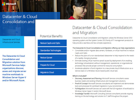 Datacenter and Cloud Consolidation and Migration Datasheet