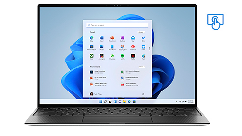 Dell XPS. Touchscreen device