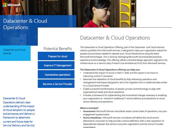 Datacenter and Cloud Operations  Datasheet