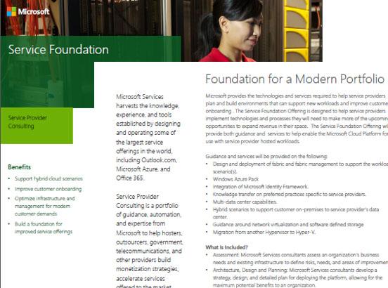 Service Foundation Datasheet