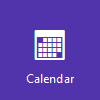 Calendar logo, open Calendar on Outlook.com
