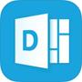 Delve logo, download the Delve app in the App store