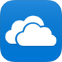 OneDrive logo, download the OneDrive app in the App store