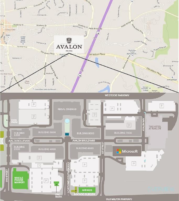 Map of MTC Atlanta