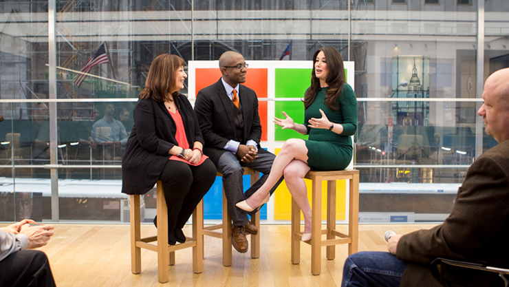 Microsoft speaker series at the flagship store in New York.
