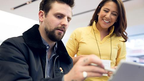 Microsoft tech with customer