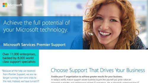premier support microsoft enterprise services