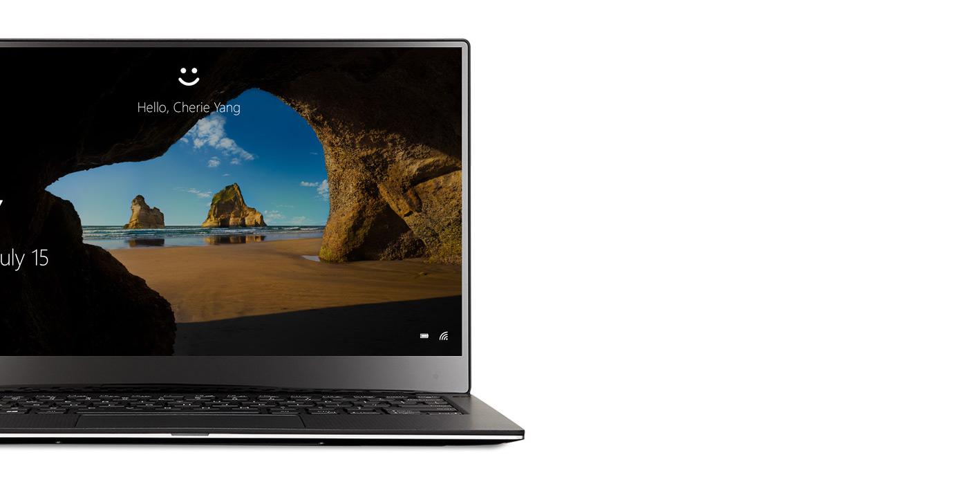 Windows 10 Laptop with Windows Hello screen
