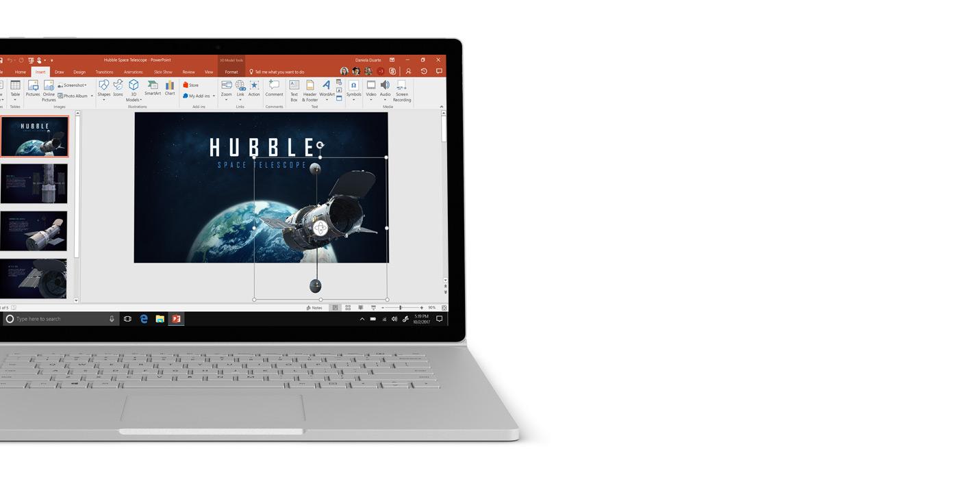 Windows 10 laptop with Microsoft Word screen