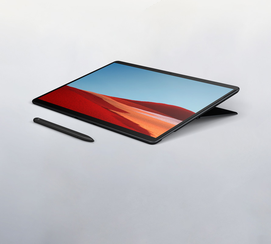 Surface Pro X in Studio Mode