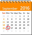 Calendar with September 26 circled, learn more about Microsoft Ignite