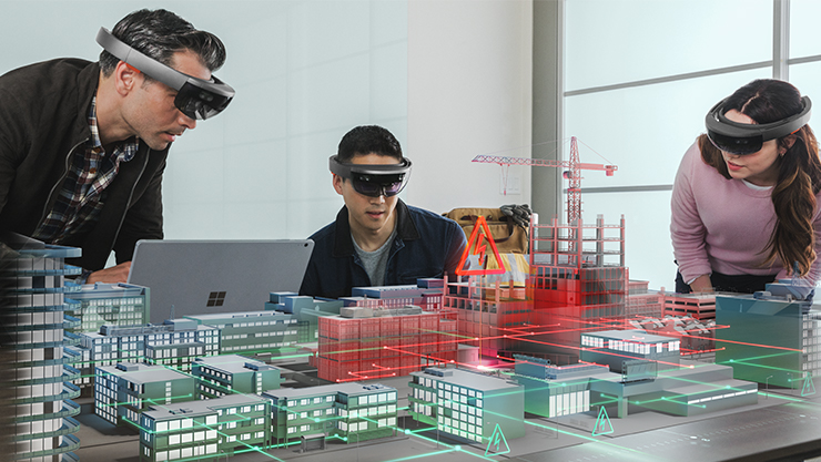 Visualizing buildings with HoloLens