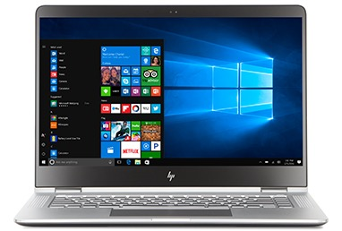 HP Spectre x360 with a Windows start screen