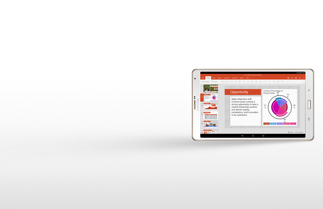 PowerPoint on Android tablet