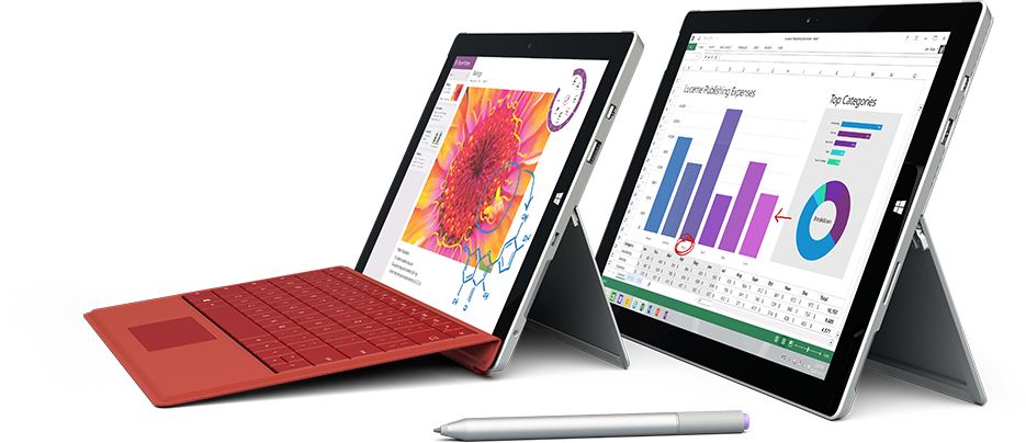 Two tablets showing partner apps that work with OneDrive for Business