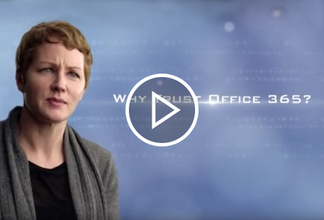 """In this video, Julia White answers the question """"Why trust Office 365?"""""""