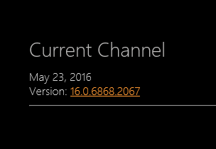 Current Channel page on Microsoft TechNet, learn about Office 365 client update channel releases on TechNet